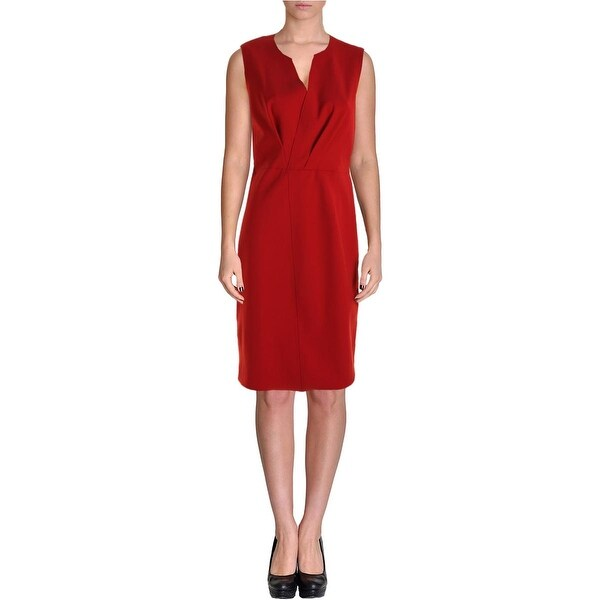 Elie Tahari Womens Vernon Wear to Work Dress V-Neck Sleeveless