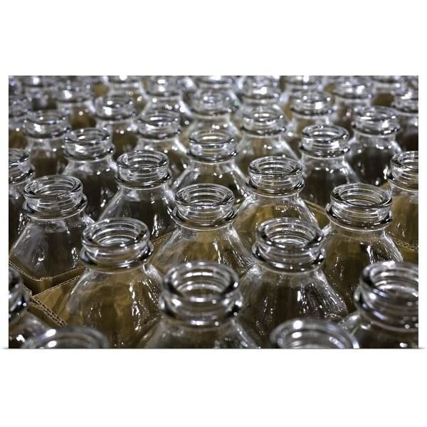 """Empty glass jars"" Poster Print"
