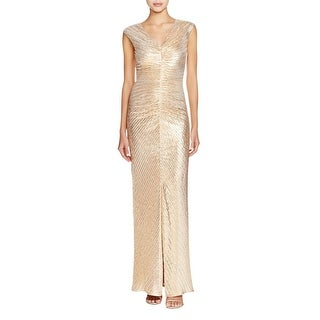 Laundry by Shelli Segal Womens Formal Dress V-Neck Textured