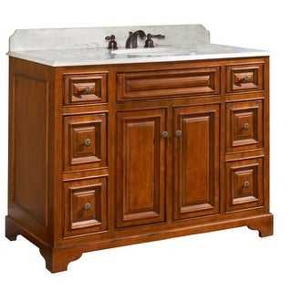 "Sunny Wood CB4821D Cambrian 48"" Maple Wood Vanity Cabinet Only"