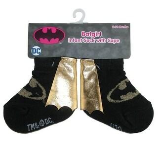 DC Comics Baby Girl's Caped Batgirl Socks