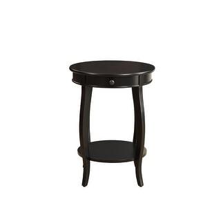 Side Table In Black - Mdf, Wood Veneer