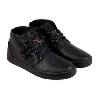 K-Swiss DR Cinch Chukka P Mens Black Suede Casual Dress Lace Up Chukkas Shoes