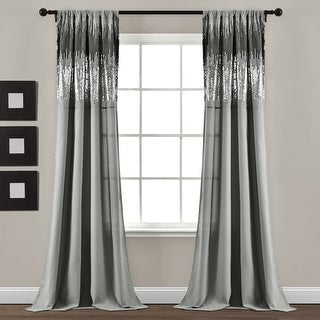 """Link to Lush Decor Shimmer Sequins Window Curtain Panel Pair - 84"""" x 42"""" - 84"""" x 42"""" Similar Items in Window Treatments"""