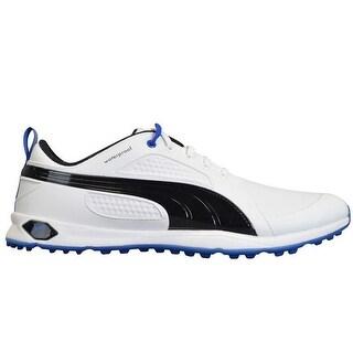 Puma Men's Biofly White/Black/Strong Blue Golf Shoes 187583-02