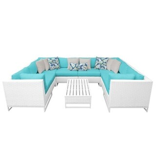 Florida 9-Piece Aluminum Framed Outdoor Conversation Set with Coffee Table