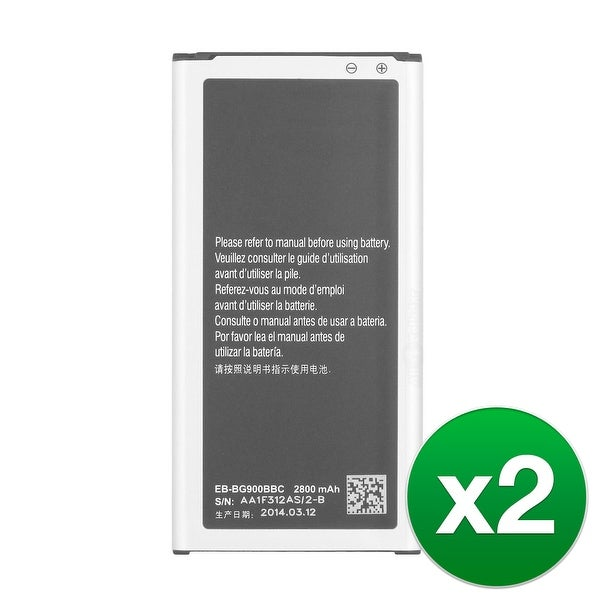 Replacement EB-BG900BBU Battery for Samsung SM-G900PZDASPR Cell Phone Models (2 Pack)