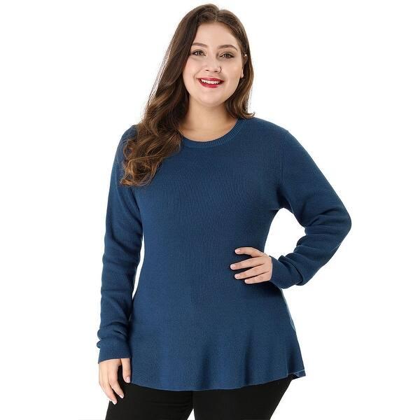 Yours Clothing Womens Plus Size Peplum Sweatshirt