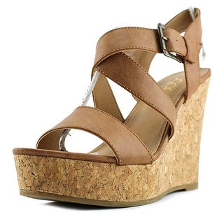 Sugar Hanna Open Toe Synthetic Wedge Heel