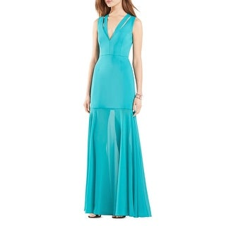 BCBG Max Azria Womens Orlena Evening Dress Cut-Out Chiffon Skirt