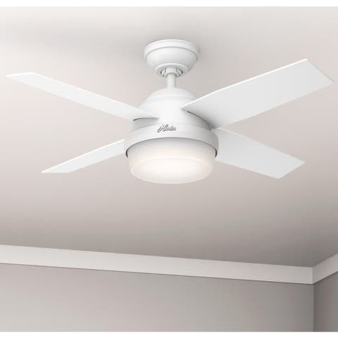 "Hunter 44"" Dempsey Ceiling Fan with LED Light Kit and Remote"