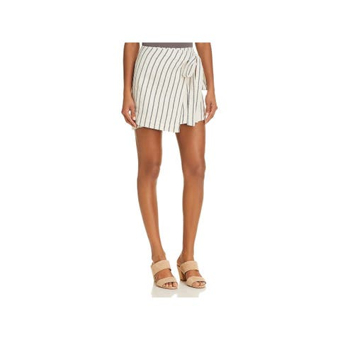 Theory Womens Wrap Skirt Linen Striped - 0