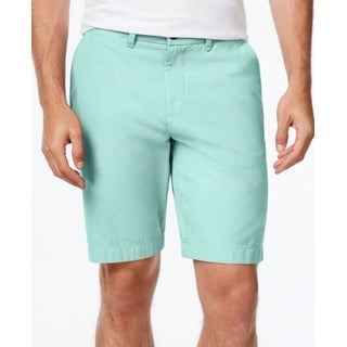 Tommy Hilfiger NEW Spring Green Mens Size 33 Classic Fit Khakis Shorts