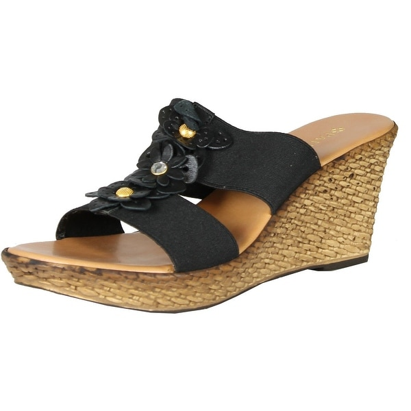 Patrizia By Spring Step Surprise Wedge Sandals - black.