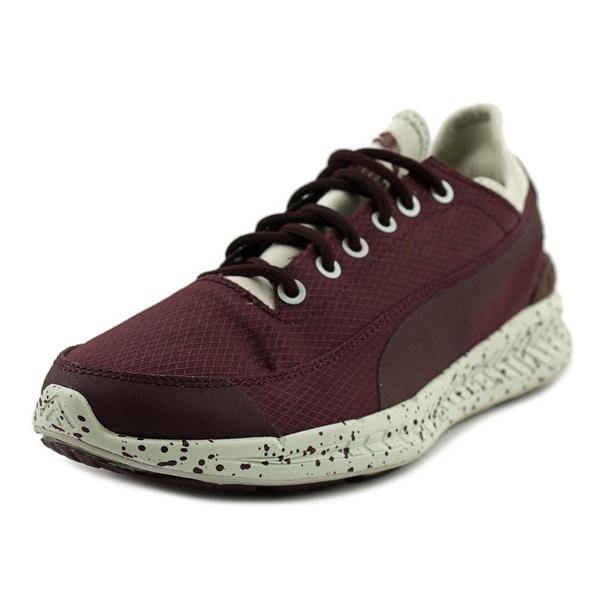 Puma Ignite Sock Winter Tech Women Round Toe Canvas Purple Sneakers