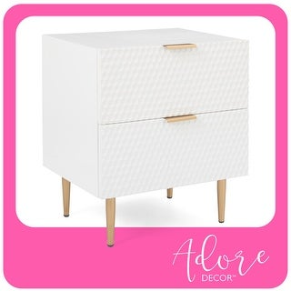 Link to Adore Decor Jolie 2 Drawer Side Table Similar Items in Bedroom Furniture