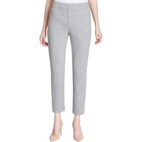 Calvin Klein Womens Faux Leather Dress Pants