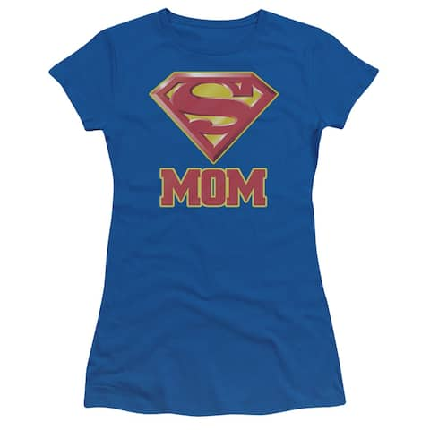 Superman Super Mom Juniors Short Sleeve Shirt