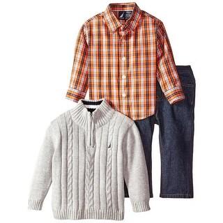 Nautica Boys 2T-4T 3-Piece Sweater Jean Set