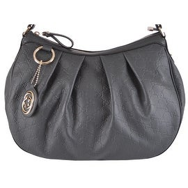 New Gucci 364843 GG Guccissima Grey Leather GG Charm Sukey Purse Bag Hobo