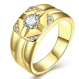 Cluster Gold Crossover Ring