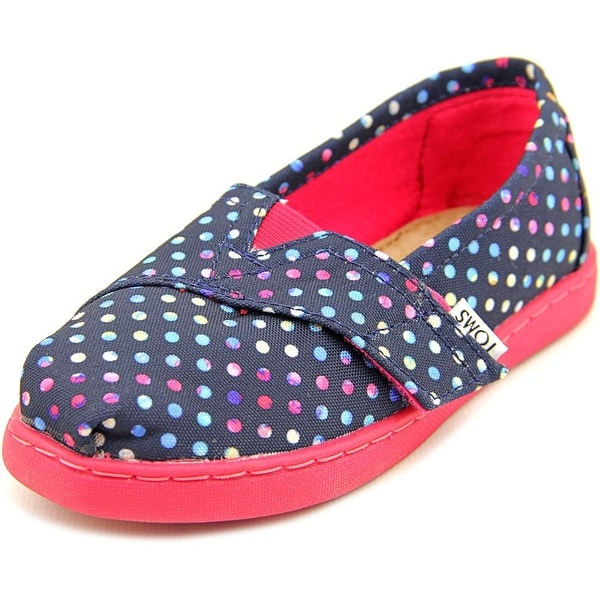 Toms Classic Toddler Round Toe Canvas Blue Flats