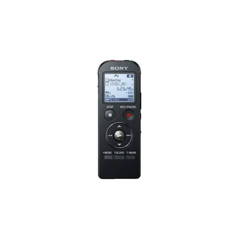 Sony ICDUX533BLK Sony Digital Flash Voice Recorder - 4 GB Flash MemoryLCD - Headphone - 1073 HourspeaceRecording Time - Portable