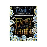Design Originals Chalk-Style Family Coloring Bk