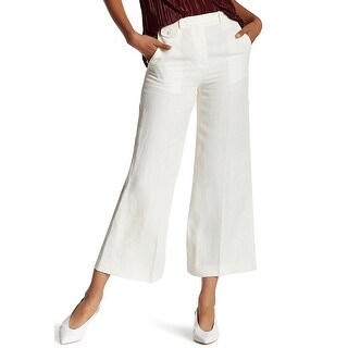 Theory NEW White Ivory Womens Size 6 Nadeema Trouser Crop Casual Pants