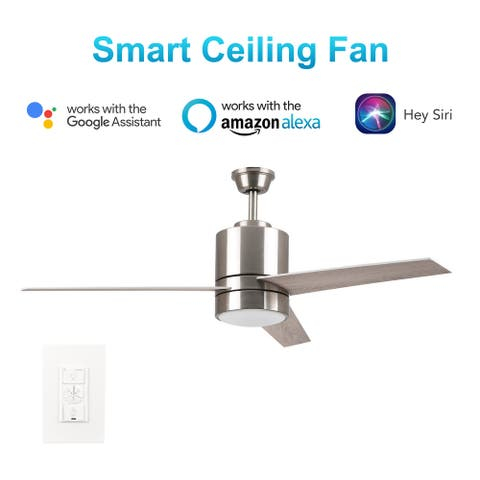 Ranger 52'' Smart Ceiling Fan with wall control, Light Kit IncludedWorks with Google Assistant and Amazon Alexa,Siri Shortcut.