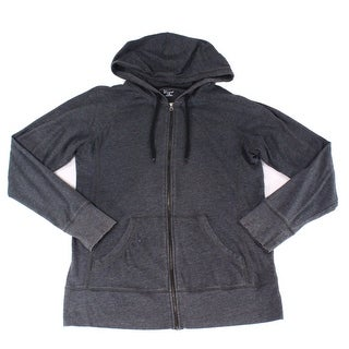 Champion NEW Charcoal Gray Mens Size Large L Full-Zip Hooded Sweater