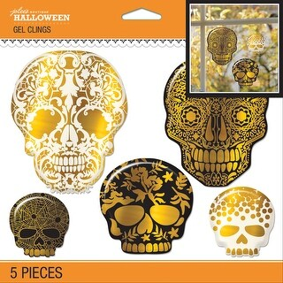 Jolee's Halloween Gel Clings 5/Pkg-Skull - Skull