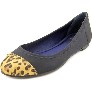 Jack Rogers Bree Stretch Women Round Toe Canvas Black Flats