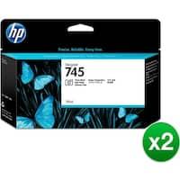 HP 745 130-ml DesignJet Photo Matte Black Ink Cartridge (F9J98A)(2-Pack)