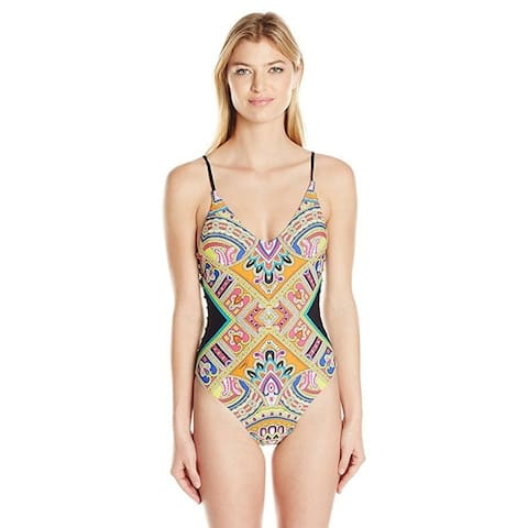 Trina Turk Women's Nepal Over the Shoulder Maillot One Piece Sz: 8