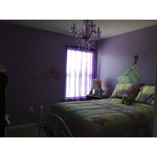 Naples Light Purple 4-light Mini Chandelier