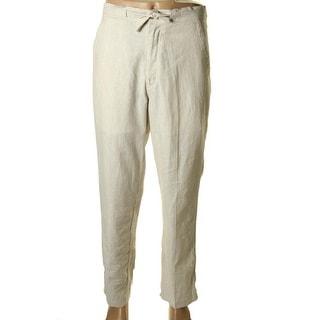 Cubavera Mens Linen Pinstripe Casual Pants - M