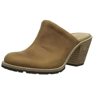 Woolrich Womens Miss Lucy Leather Distressed Mules