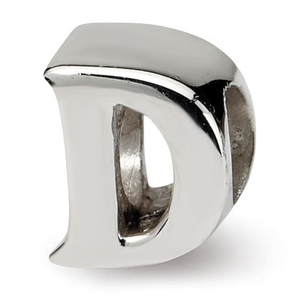 Sterling Silver Reflections Letter E Bead (4mm Diameter Hole)