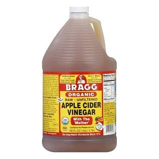 Bragg Organic Apple Cider Vinegar, 1 GA (Pack of 4)