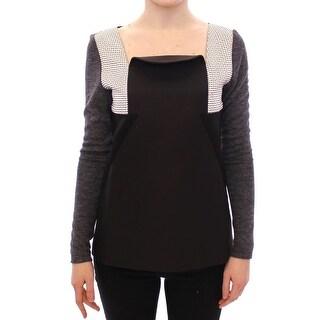 KAALE SUKTAE KAALE SUKTAE Black Gray Longsleeve Pullover Sweater