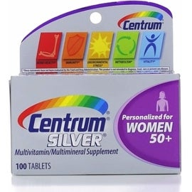 Centrum Silver MultivitaminTablets, Women 50+, 100 ea