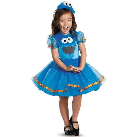 Disguise Cookie Monster Tutu Deluxe Toddler Costume - Blue