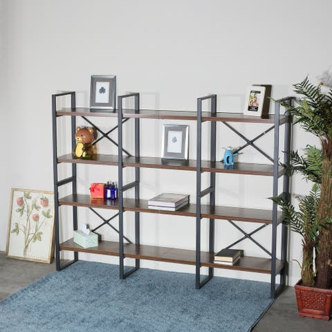 Carbon Loft Strohn and Adjustable Wood and Metal Display and Etagere Bookshelves and Bookcases - 66.14*11.34*56.69 inches