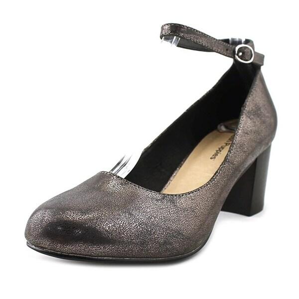 Hush Puppies Dane Damara IIV Women Round Toe Synthetic Gray Heels
