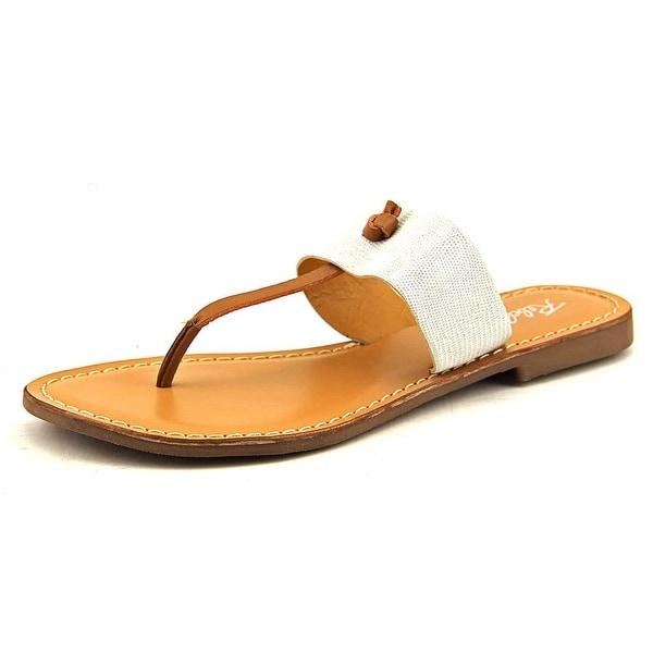 Rebels Paityn Women Open Toe Leather White Thong Sandal
