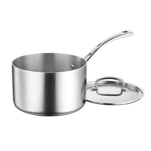 Cuisinart FCT19-18 French Classic Tri-Ply Stainless 2-Quart Saucepan with Cover