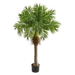 "Nearly Natural Home Decorative 58"" Robellini Palm Artificial Faux Tree"