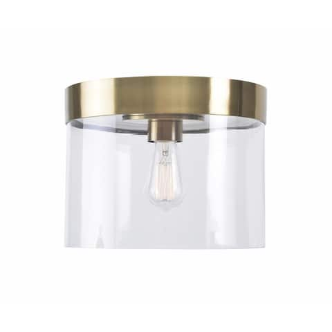 Strick & Bolton Swanevelt 1-light Glass Flush Mount
