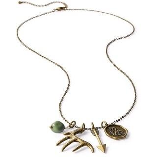 Legendary Whitetails Women's Heritage Charm Necklace - Antique Brass
